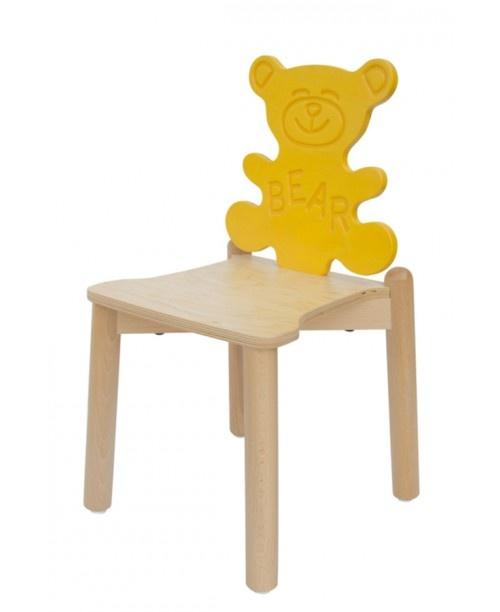ANIMALANDIA - Bear, Chaises drôles pour enfants, animaux dossier avec la forme