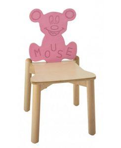 ANIMALANDIA - Mouse, Chaise empilable en hêtre et le bouleau, pour les aires de jeux