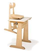 AULA, Chaise et un bureau, en hêtre, pour l'école maternelle et