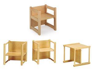 DIXI, Chaise polyvalente, en bois de hêtre, pour les enfants