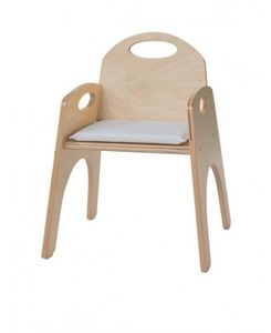 FANTALANDIA, Chaise avec accoudoirs pour enfants, empilable, pour aires de jeux et la chambre des enfants