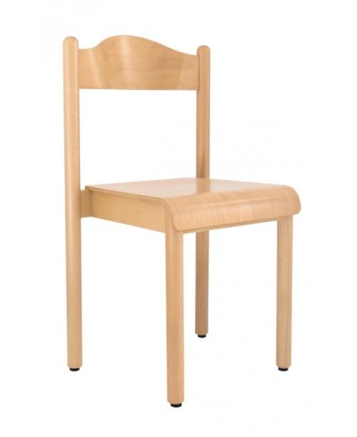 HEIDI, Chaise empilable, pour l'école et la maternelle, en hêtre