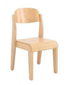 LEA, Chaise en hêtre, pour les écoles et les chambres d'enfants