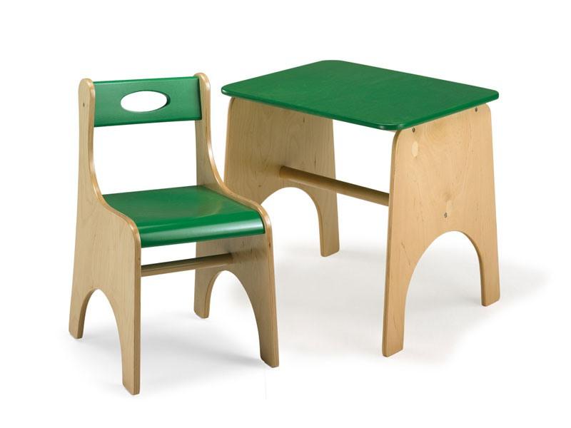 LEILA E LEILA/T, Chaise et table pour les enfants, en contreplaqué, pour les zones de l'école et jouer