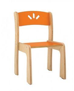 LOVE, Chaise empilable en contreplaqué de bouleau, pour les enfants
