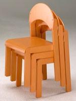 LUNA, Chaises pour enfants, empilable, pour l'enfant et à la maternelle chambre