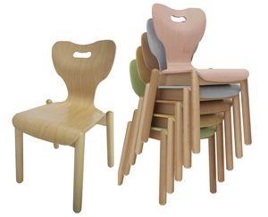 MIA, Chaise pour enfants, empilable, avec un design anatomique