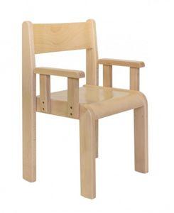 MINNIE/B, Chaise avec accoudoirs, hêtre, pour les pépinières et les chambres d'enfants