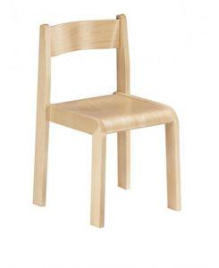 MINNIE, Chaise en bois, la peinture non toxique, pour les écoles et jardins d'enfants