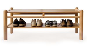 PANCA 920 P2, Banc pour enfants avec meuble à chaussures, structure en bois de hêtre