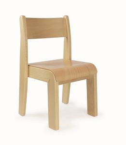 PENNY, Chaise empilable pour enfants, facile à laver