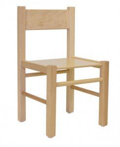QUADRA, Chaise en hêtre, dans un style simple, pour les enfants