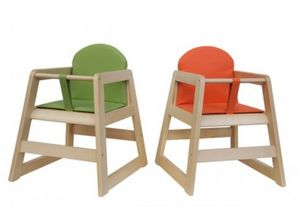 RONDÒ/Q, Chaise empilable en hêtre, avec pied carré