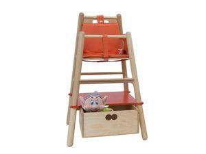 RONDO' HD, Chaise haute pour les enfants, la structure en bois de hêtre
