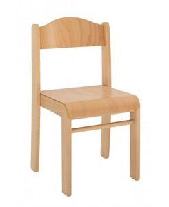 SISSI, Chaise empilable en hêtre, disponible en différentes hauteurs