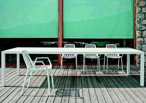 9607 Rion, Chaise avec accoudoirs, en métal, pour l'extérieur