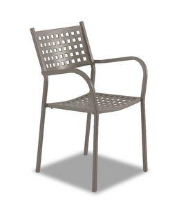 Alice, Chaise d'extérieur avec accoudoirs