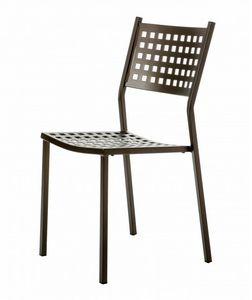 Alice, Chaise d'extérieur en acier galvanisé