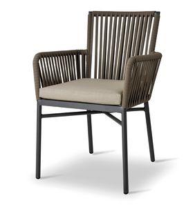 ARI, Chaise d'extérieur avec coussin rembourré