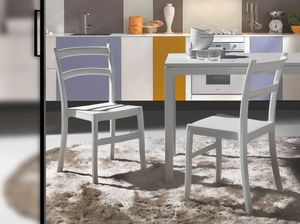 Art. 053 Venezia, Chaise en polypropylène de couleur, pour intérieur et extérieur
