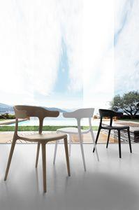 Art. 056 Brera, Chaise en polypropylène, empilable, pour bar extérieur
