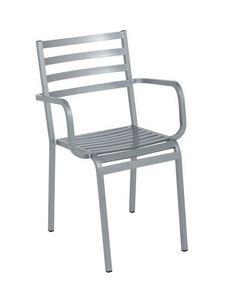 Art.Macrì Outdoor Chaise avec accoudoirs, Chaise d'extérieur avec accoudoirs pour bar, des restaurants ou des résidences privées
