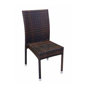 Belinda, Chaise tissé pour une utilisation en extérieur, empilable, cadre en aluminium