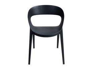 Camilla, Chaise moderne en plastique renforcé, pour la cour et le bar