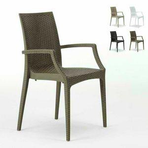 Chaise de bar avec accoudoirs – S6625, Chaise avec accoudoirs, empilable, économique, pour bar