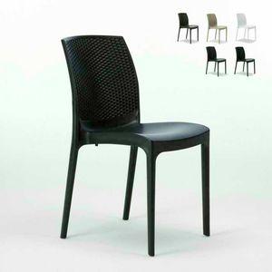 Chaise empilable empilable en rotin – S6308, Chaise en rotin empilable, pratique à ranger