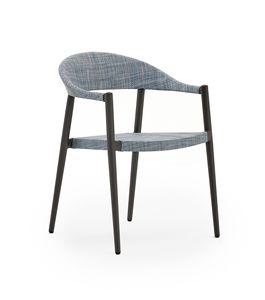 Clever Fauteuil, Chaise en aluminium, léger et confortable, pour extérieur