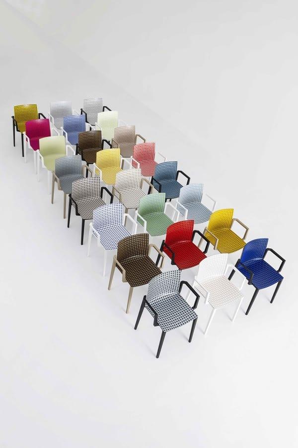 Clipperton Blend B, Chaise empilable avec texture en relief