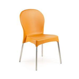 Diana, Chaise empilable, coloré, pour le jardin et l'hôtel