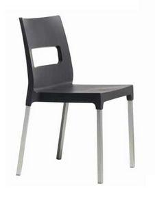 Dina, Chaise empilable pour restaurants et bars en plein air