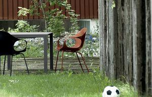 Elephant Four Legs Outdoor, Chaise avec accoudoirs en plastique, pour utilisation conctract