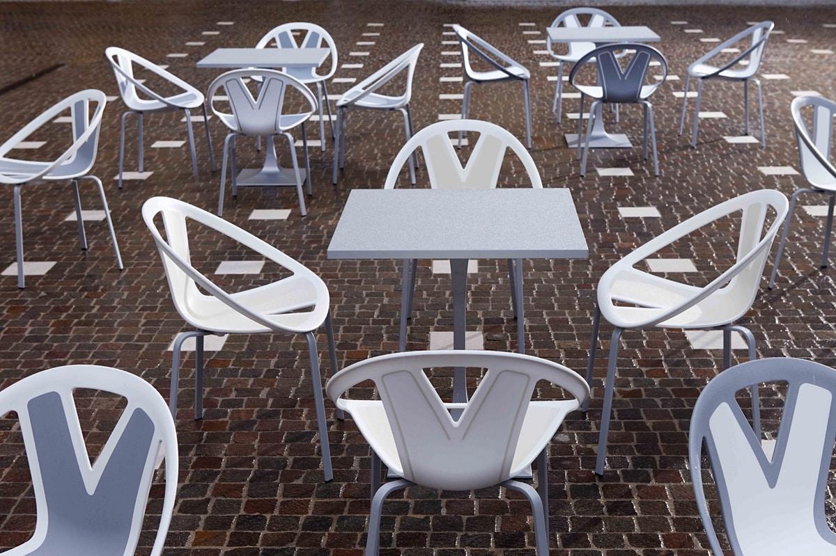 Extreme, Chaise avec assise en matière plastique, par externe
