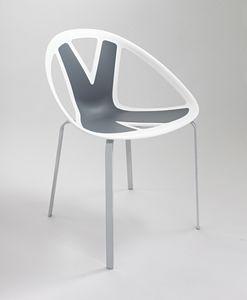 Extreme cod. 83, Chaise avec assise en matière plastique, par externe