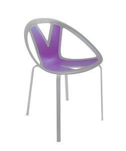Extreme cod. 84, Chaise avec assise en matière plastique, par externe