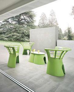 Flower cod. 66, Chaise de polymère d'origine pour les jardins et les salons de crème glacée