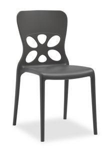 Gaia, Chaise d'extérieur empilable, dossier ajouré
