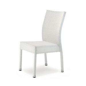 Giada 4, Chaise tissé moderne, Bar et salon de crème glacée