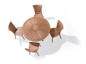 Harmony chaise, Chaise avec dossier à lattes verticales, pour le côté extérieur