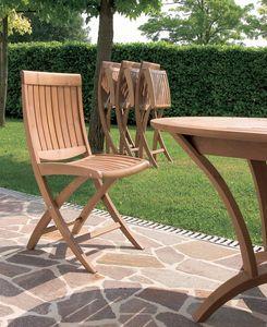 Harmony chaise pliante, Chaise pliante en bois, pour une utilisation extérieure