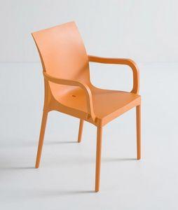 Iris B, Chaise durable avec accoudoirs pour jardin