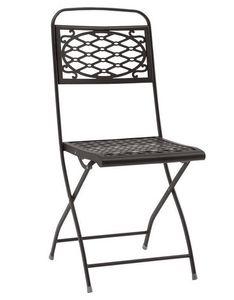 Isa, Chaise pliante en acier, différentes couleurs, pour jardin
