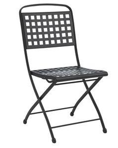Isabella, Chaise pliante en acier pour jardin