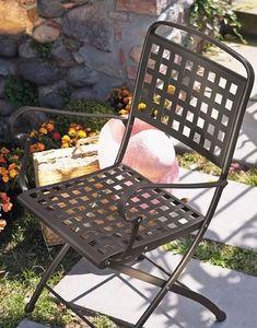 Isabella P, Chaise pliante en acier, pour jardin