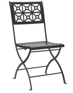 Isotta, Chaise pliante en acier pour jardin