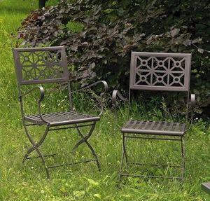 Isotta/P, Chaise pliante en acier pour jardin