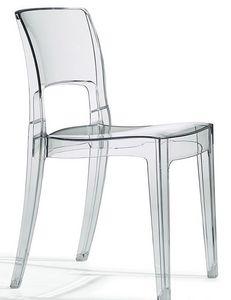 Isy Antishock, Chaise design en polycarbonate, empilable, différentes couleurs